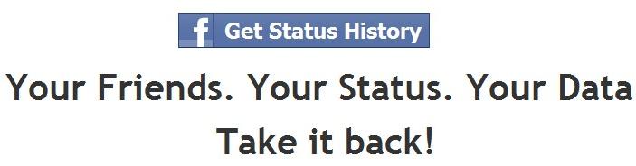 facebook status history