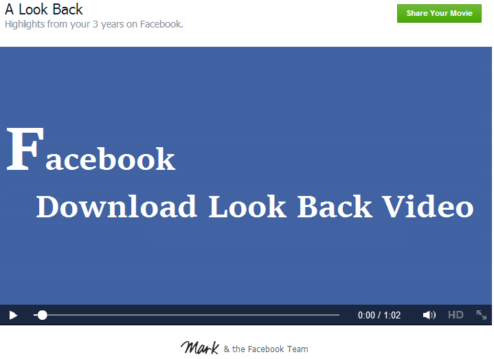 Download facebook look back video