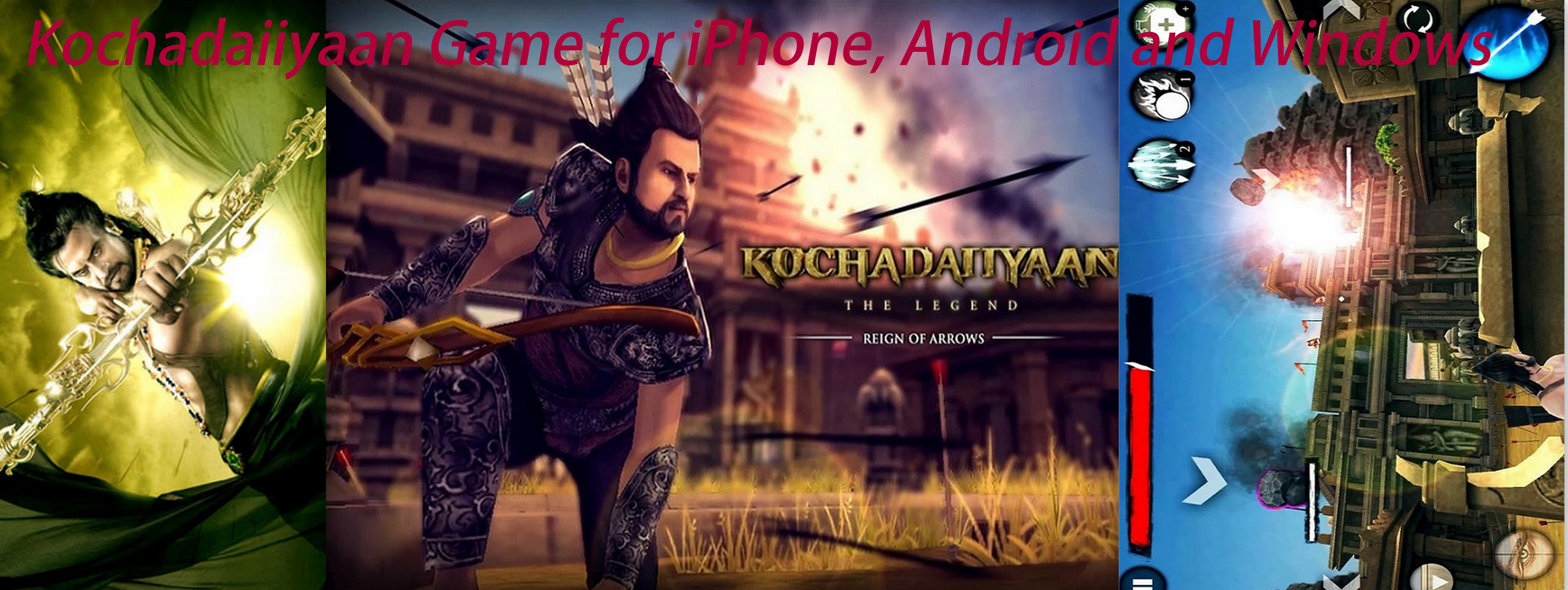 Kochadaiiyan game for iPhone, Android