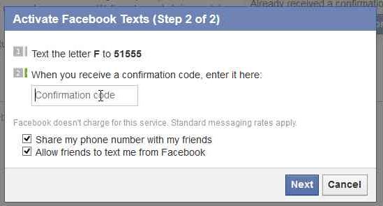 Facebook mobile notificaiton